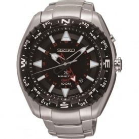 Seiko SUN049P1 Gents Prospex Silver & Black Kinetic Watch