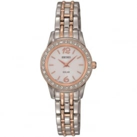 Seiko SUP130 Ladies Two Toned Swarovski Solar Watch
