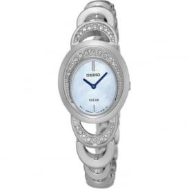 Seiko SUP295P1 Mother of Pearl & Silver Stainless Steel Solar Ladies Watch
