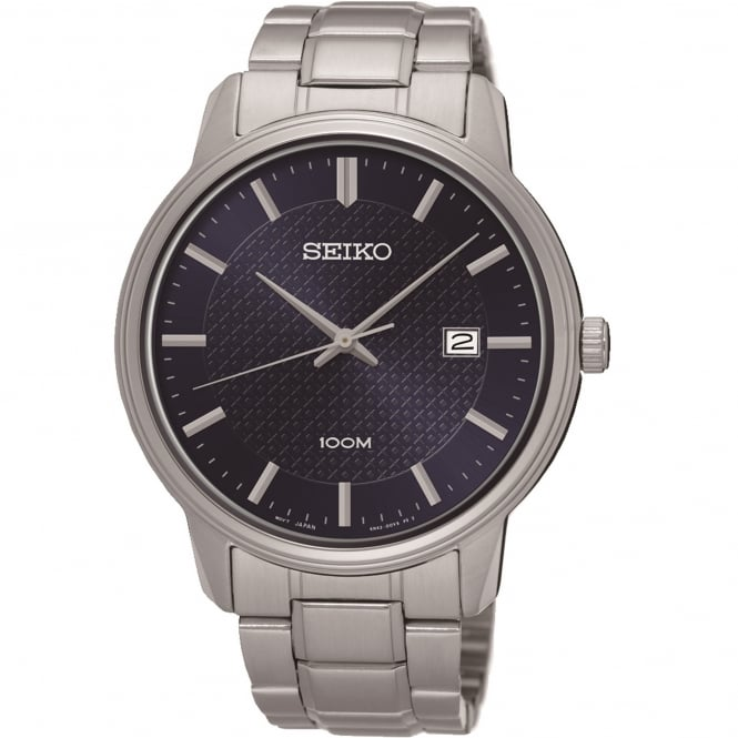 Seiko SUR193P1 Blue & Silver Stainless Steel Men's Watch
