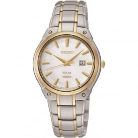 Seiko SUT128P1 Solar Gold & Silver Ladies Watch