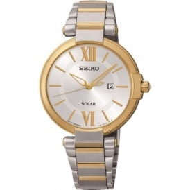 Seiko SUT154P1 Ladies Two-Toned Solar Powered Watch