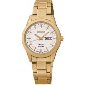 Seiko SUT164P1 Ladies Gold Solar Watch