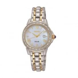 Seiko SUT170P9 Silver & Gold Solar Ladies Watch