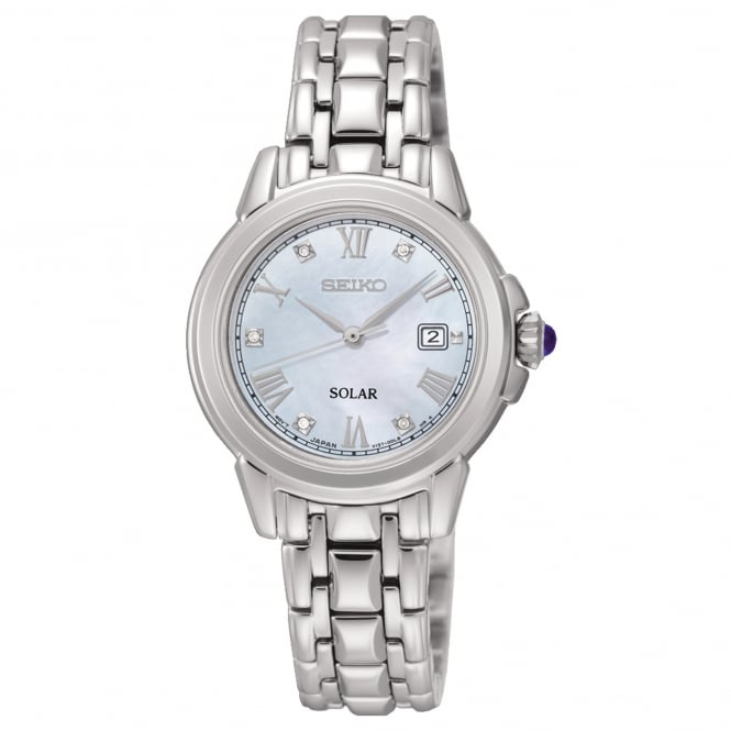 Seiko SUT243P9 Mother of Pearl Dial & Silver Stainless Steel Solar Ladies Watch