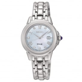 SUT243P9 Mother of Pearl Dial & Silver Stainless Steel Solar Ladies Watch