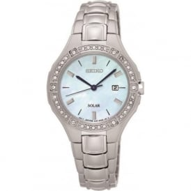 Seiko SUT281P9 Mother of Pearl & Silver Stainless Steel Women's Solar Watch