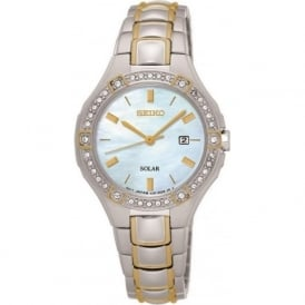 Seiko SUT282P9 Mother of Pearl & Two Toned Women's Solar Watch