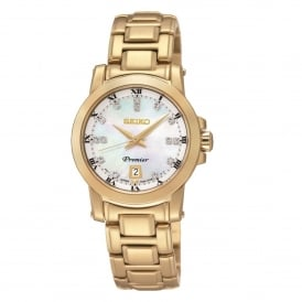 SXDG04P1 Premier Mother of Pearl Dial & Gold Stainless Steel Ladies Watch