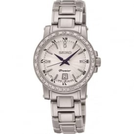 Seiko SXDG57P1 Premier Stainless Steel Ladies Diamond Watch