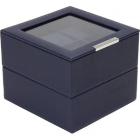 Set of 2 Navy 6 Piece Watch Trays