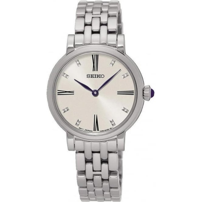 Seiko SFQ817P1 Silver Stainless Steel Ladies Watch