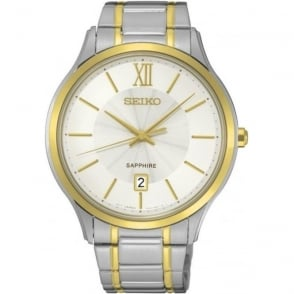 Seiko SGEH54P1 Two Tone Stainless Steel Mens Watch