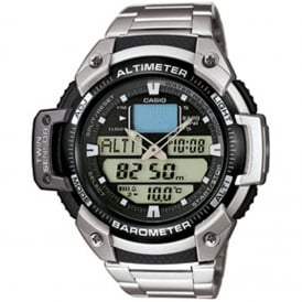 SGW-400HD-1BVER Silver Sports Chronograph Watch