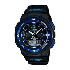SGW-500H-2BVER Blue & Black Analogue & Digital Resin Men's Watch