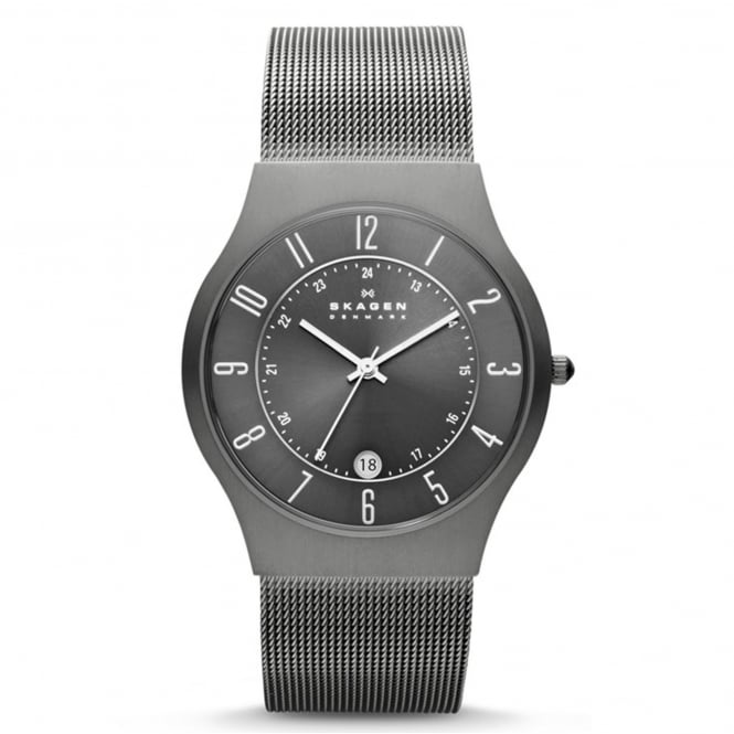Skagen 233XLTTM Grenen Grey & Silver Mesh Titanium Men's Watch