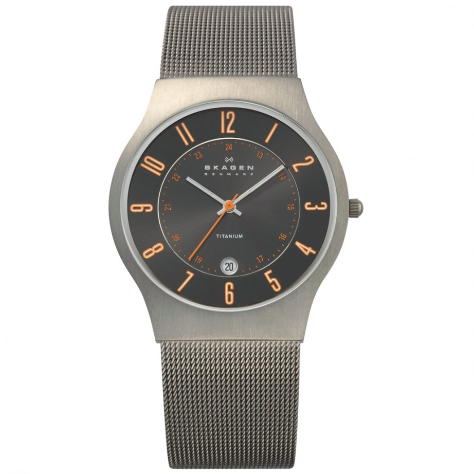 skagen watches 233xlttmo titanium mens buy skagen