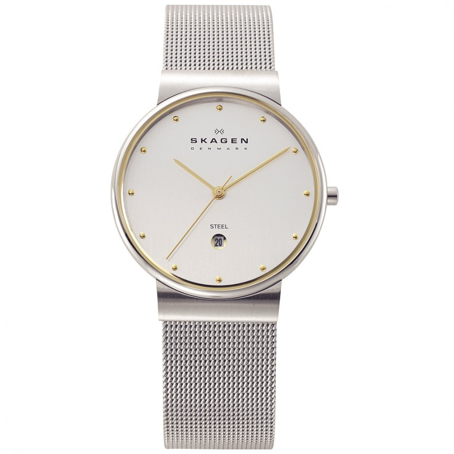 skagen watches 355lgsc silver steel mens buy