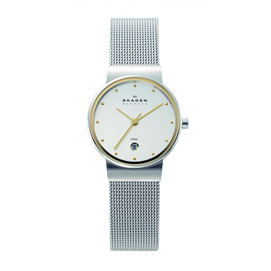 skagen watches 355sgsc silver steel womens buy