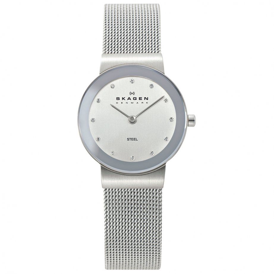 skagen watches 358sssd silver mesh womens watch buy. Black Bedroom Furniture Sets. Home Design Ideas