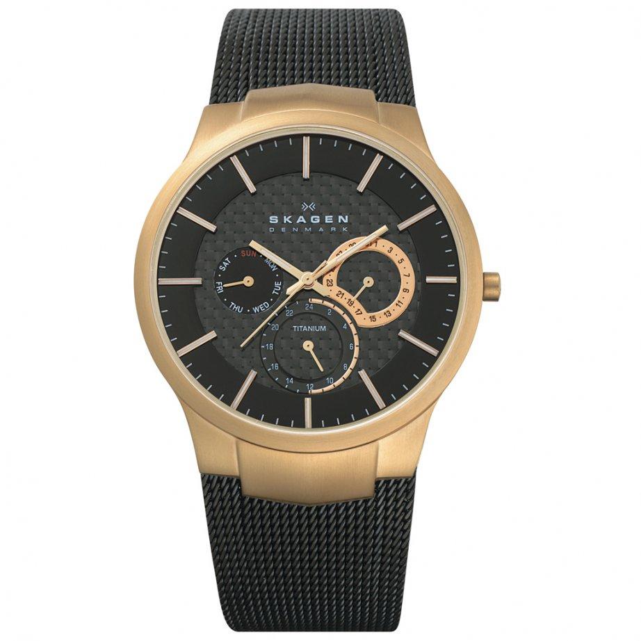 skagen watches 809xltrb black titanium mens buy