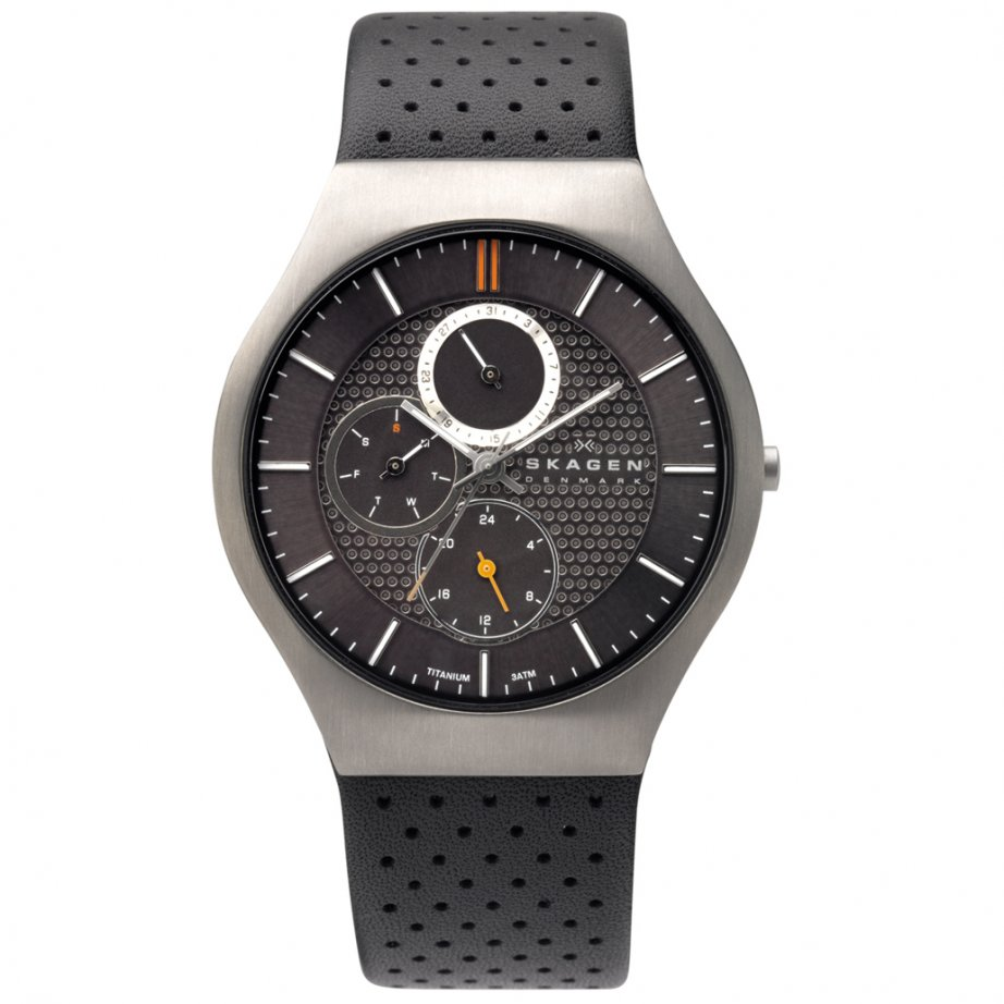 Buy black titanium skagen mens watch 806xltlm uk for Titanium watches
