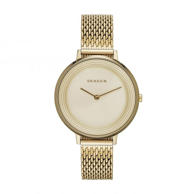Skagen SKW2333 Ditte Gold Mesh Ladies Watch