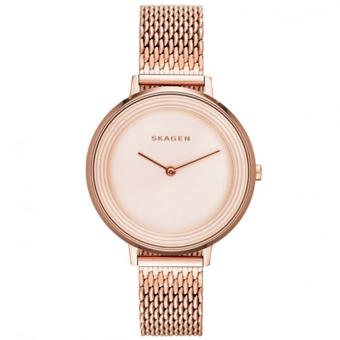 Skagen SKW2334 Ditte Rose Gold Mesh Ladies Watch