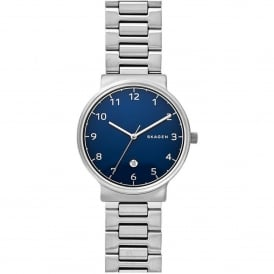 SKW6295 Ancher Blue & Silver Stainless Steel Men's Watch