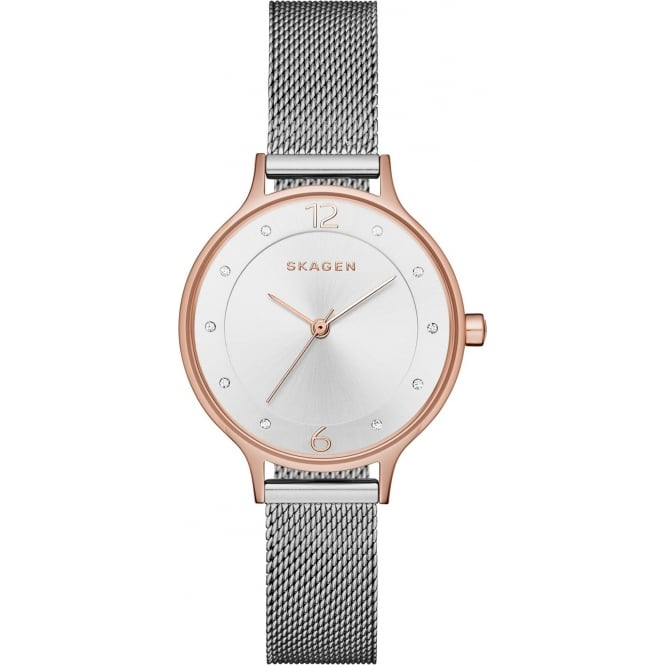 Skagen SKW1069 Anita Rose Gold & Silver Mesh Ladies Watch