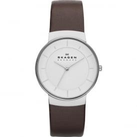 Skagen SKW2058 Klassik Brown Leather Ladies Watch