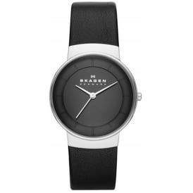Skagen SKW2059 Klassik Black Leather Ladies Watch