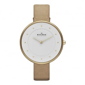 SKW2137 Gitte Gold & Tan Leather Ladies Watch