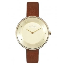 SKW2138 Gitte Gold & Brown Leather Ladies Watch