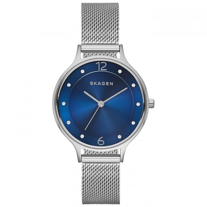 Skagen SKW2307 Anita Blue & Silver Steel Mesh Ladies Watch