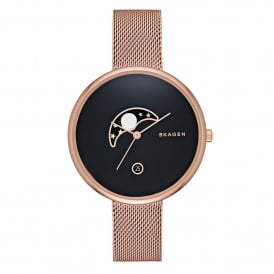 SKW2371 Gitte Moon Phase Black & Rose Gold Ladies Watch