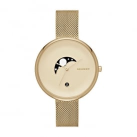 Skagen SKW2373 Gitte Moon Phase Gold Mesh Ladies Watch