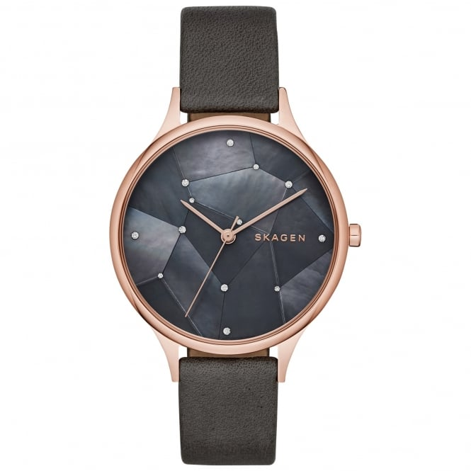 Skagen SKW2390 Anita Mother of Pearl & Grey Leather Ladies Watch
