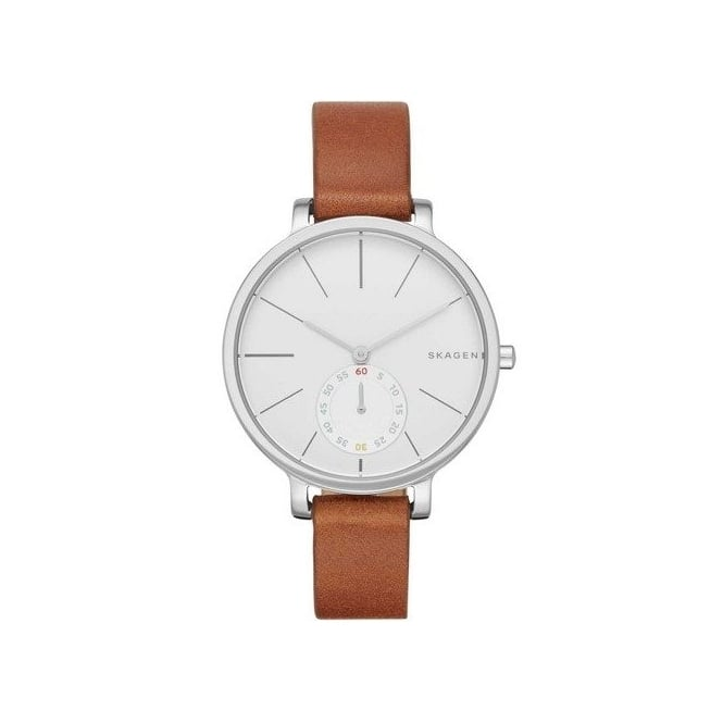 Skagen SKW2434 Hagen Silver & Brown Leather Ladies Watch