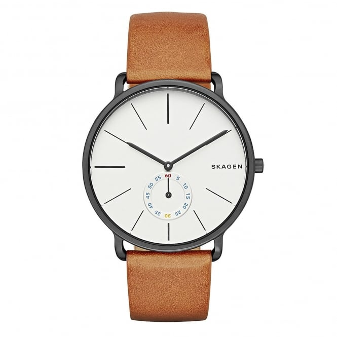 Skagen SKW6216 Hagen White Dial & Brown Leather Mens Watch