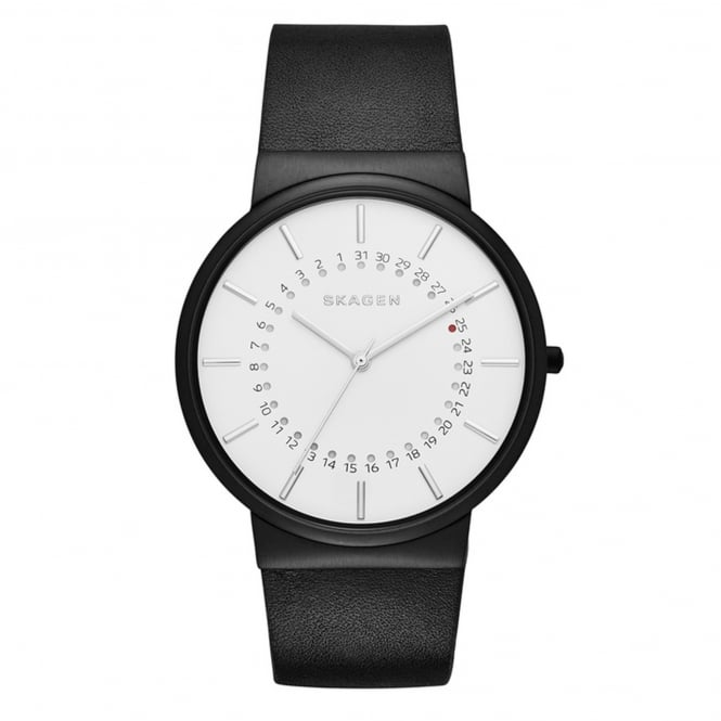 Skagen SKW6243 Ancher White & Black Leather Men's Watch