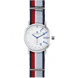 Smart Turnout STC1/56/W-RNAF Men's Silver & White Royal Naval Air Force Nato Strap Watch