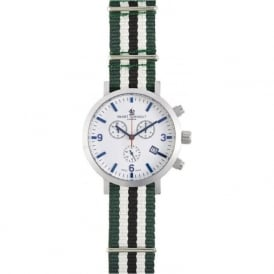 Smart Turnout STC2/56/W-RH Silve & White Dial Robin Hood Nato Strap Watch