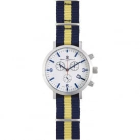 Smart Turnout STC2/56/W-WA Men's Silver & White Dial Princess Of Wales Regiment Chronograph Watch