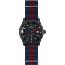 Smart Turnout STE2/56/W-HD Men's Black Case & Dial House Hold Division Nato Strap Watch