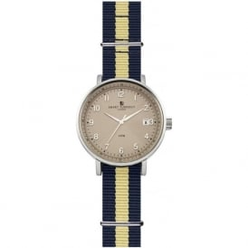 Smart Turnout STH3/BE/56/W-VAN Men's Scholar Silver & Grey faced Vanderbilt University Nato Strap Watch