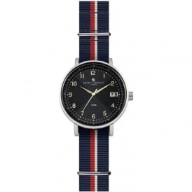 Smart Turnout STH3/BK/56/W-HD Men's Silver & Black Household Division Nato Strap Watch