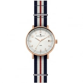 Smart Turnout STH3/WH/56/W-YH Men's Rose Gold & White Yorkshire Hussars Nato Strap watch