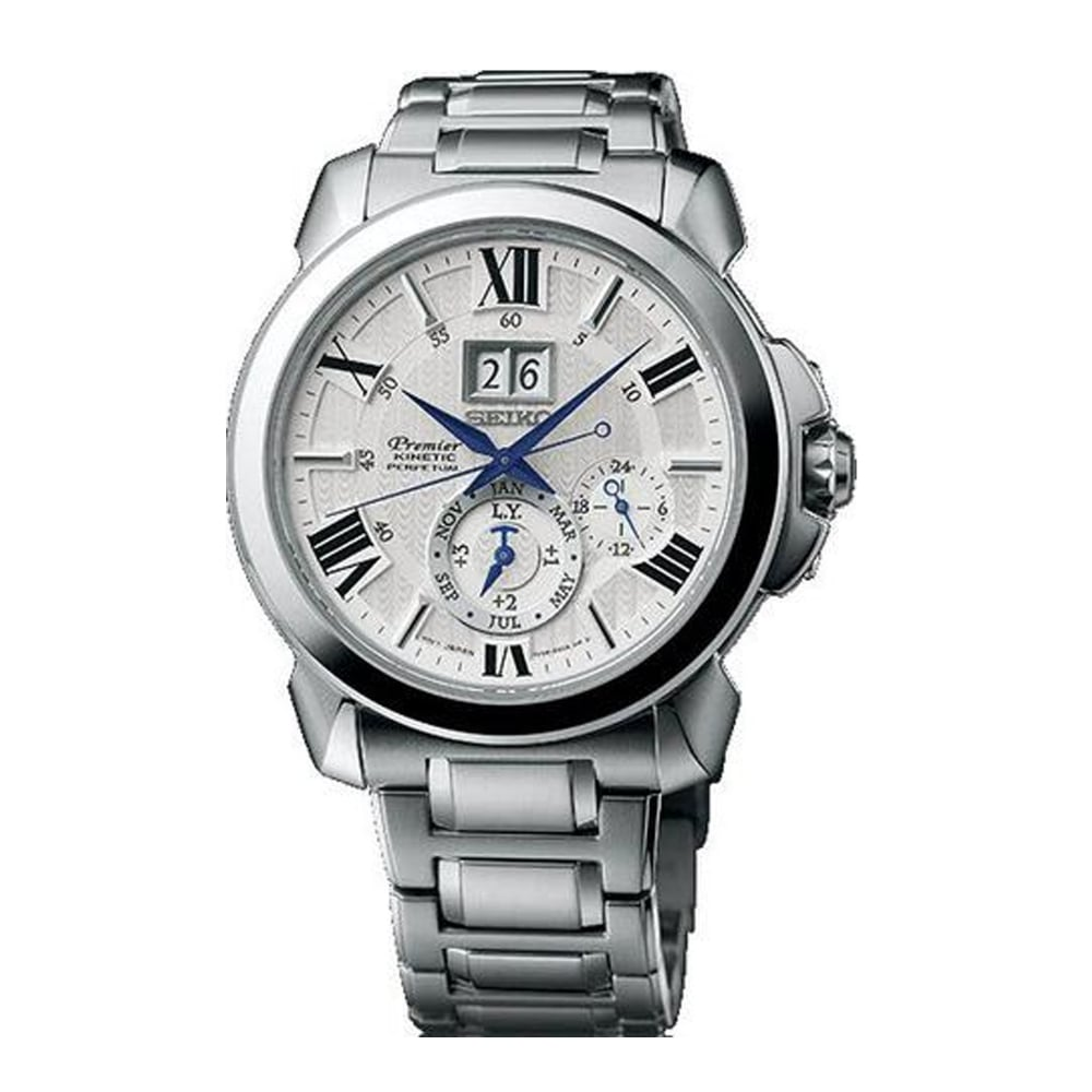 SNP139P1 Seiko Kinetic Premier Stainless Steel Men's Watch