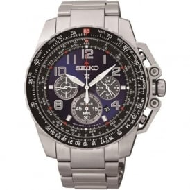 Seiko SSC275 Prospex Silver Chronograph Mens Watch